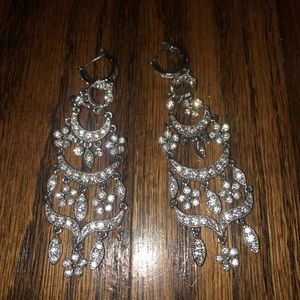 Monet Crystal Rhinestone Waterfall Earrings